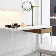Tati desk by Mats Broberg and Johan Ridderstråle and Me mirror by Mathias Hahn