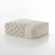 ivory-rhombus pouf
