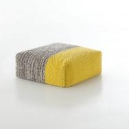 yellow-plait pouf