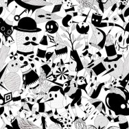 Black/White Limited Edition Hell'o monsters x Café Costume lining.