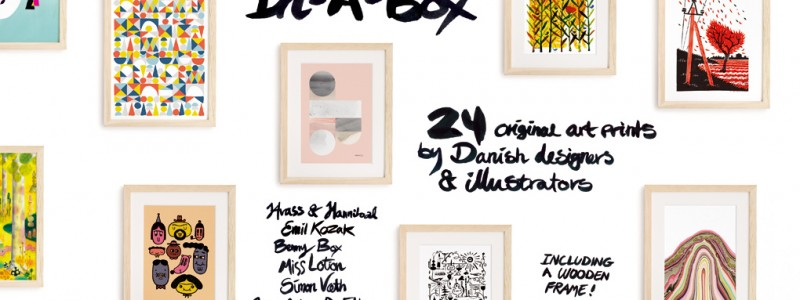 danish art prints in a box 1