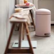 brabantia mineral pink in the bathroom 2