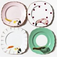 birds plates by yvonne ellen