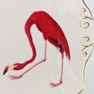 flamingo plate by yvonne ellen