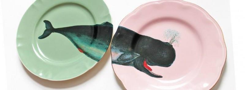 whale plate by yvonne ellen