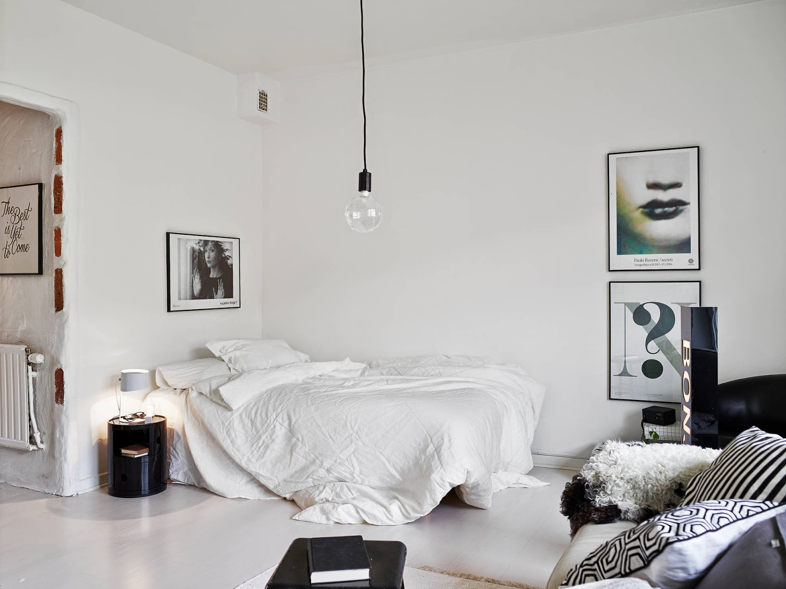 black & white one room apartment | OH MY GOODNESSOH MY GOODNESS