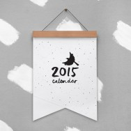 flying birds calendar by the paper bird society