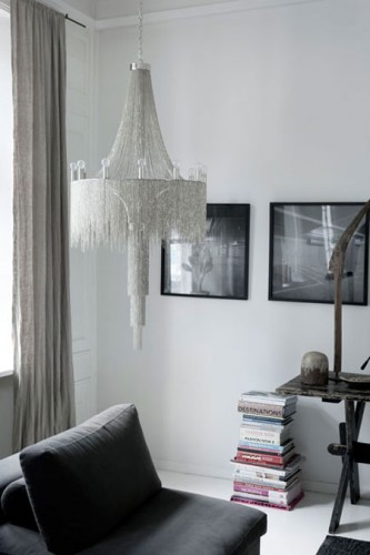 chandelier with a quirky touch