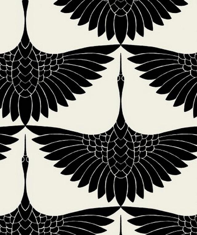 carrie hansen textile design, swan