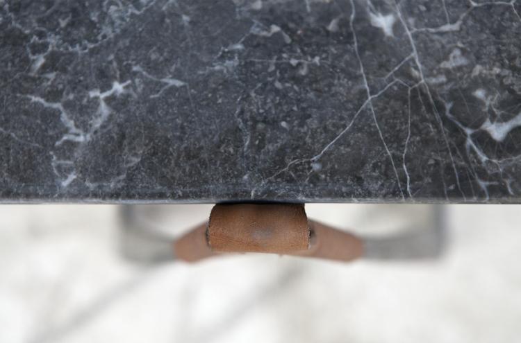 dark marble detail, Gris d'Ardenne