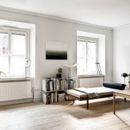 original wooden floor marking the apartment's soul