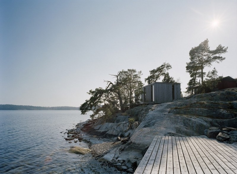 a shelter on the stockholm archipelago