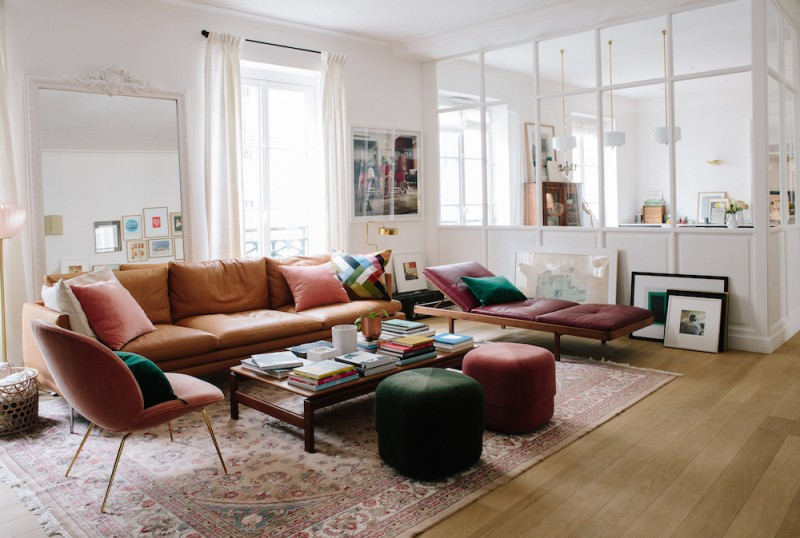 Morgane Sézalory, Paris apartment. Living room.