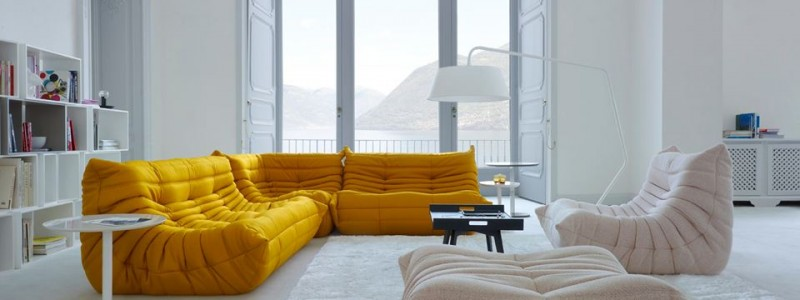bright yellow togo by ligne roset