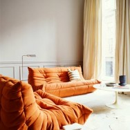 warm brown togo ligne roset