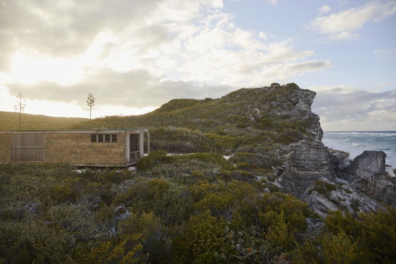 A pared down cabin on Eleuthera island, designed as an off the grid retreat.