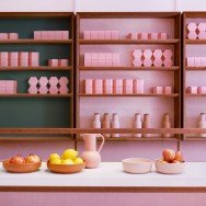 Candy pink surfaces by Child Studio within this London based quirky restaurant.