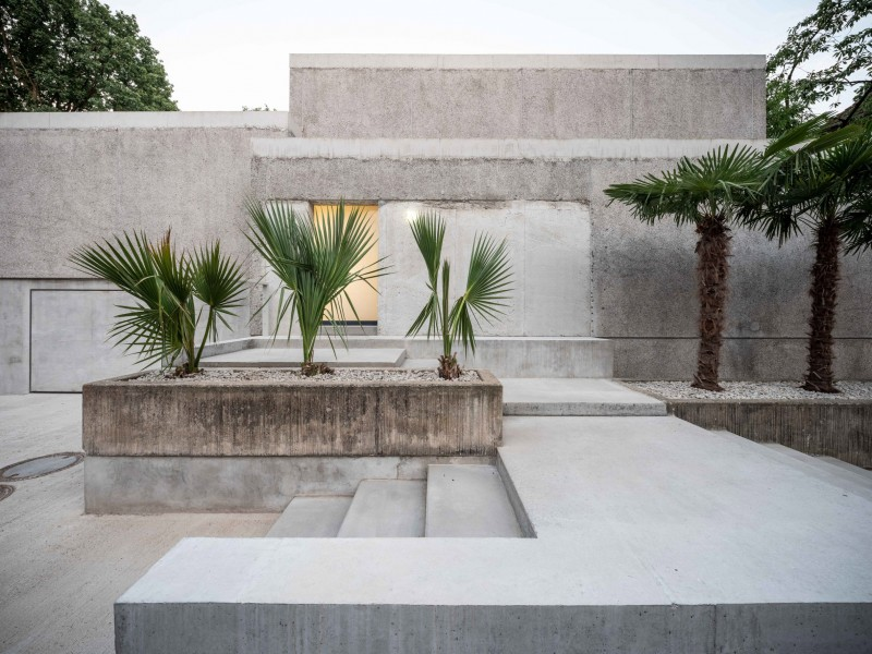 "Casa Morgana. J. Mayer H has completed a private residence with ""box in box"" concrete volumes in Northern Germany."