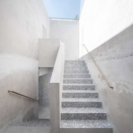 Outside: minimal aesthetic and an honest expression of the structure itself.