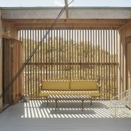 the project is a combination of volumes and outdoor decks that were designed to dissolve within the landscape.