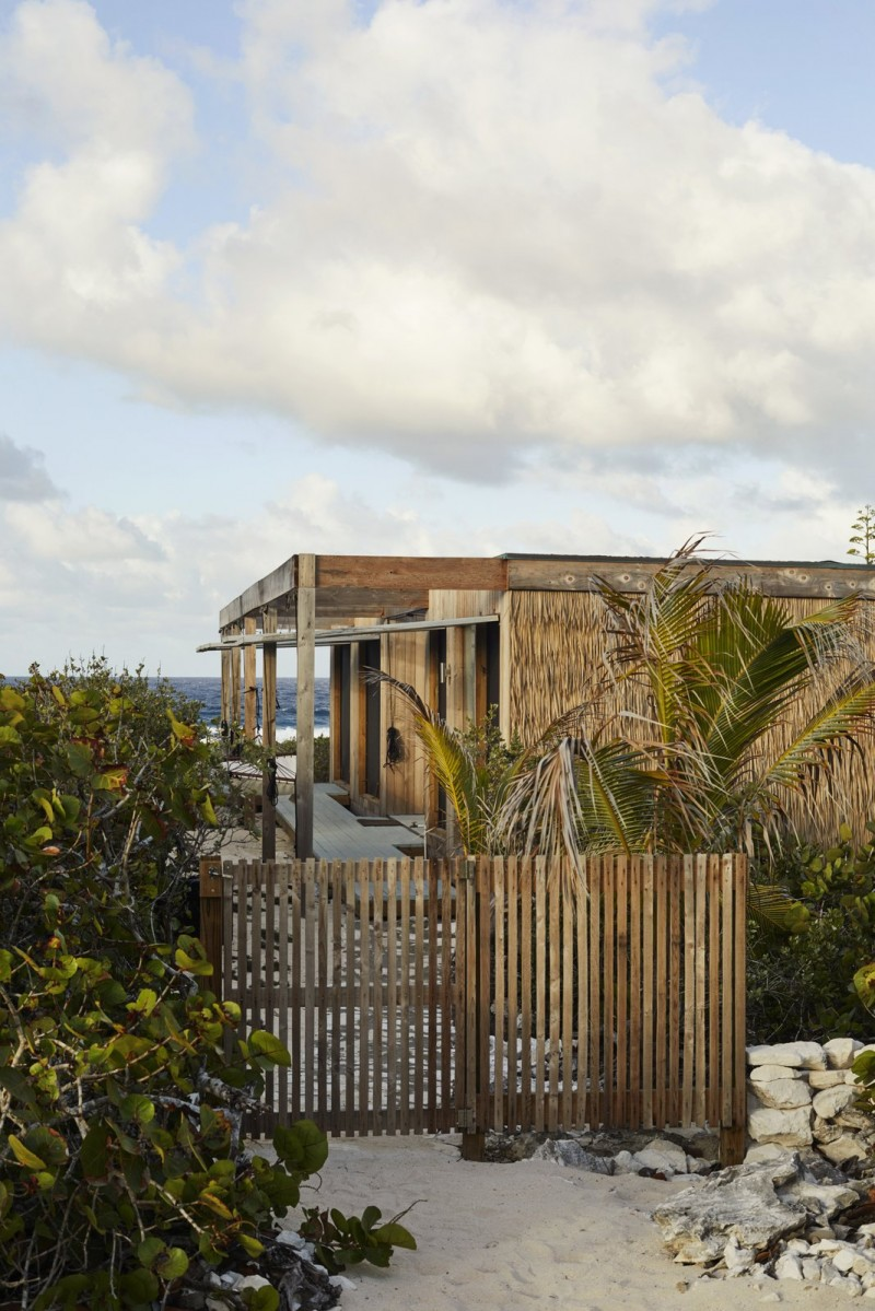 This house is both an eco-resort and surf camp.