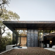 """This bridging between interior and exterior is major feature of the main living space, and an entire wall is devoted to connecting the two visually,"" the studio said."