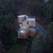 Qiyunshan tree house Bengo Studio, photos -- © Chen Hao